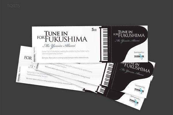Tune in Fukushima Ticket Design Ticket design Pinterest