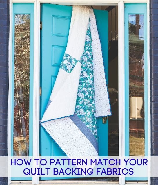 Tied With A Ribbon How To Pattern Match Your Quilt Backing
