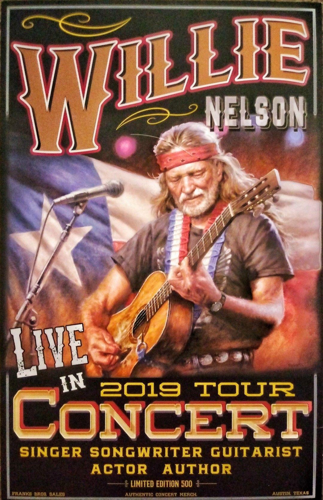 poster art for willie nelson concert