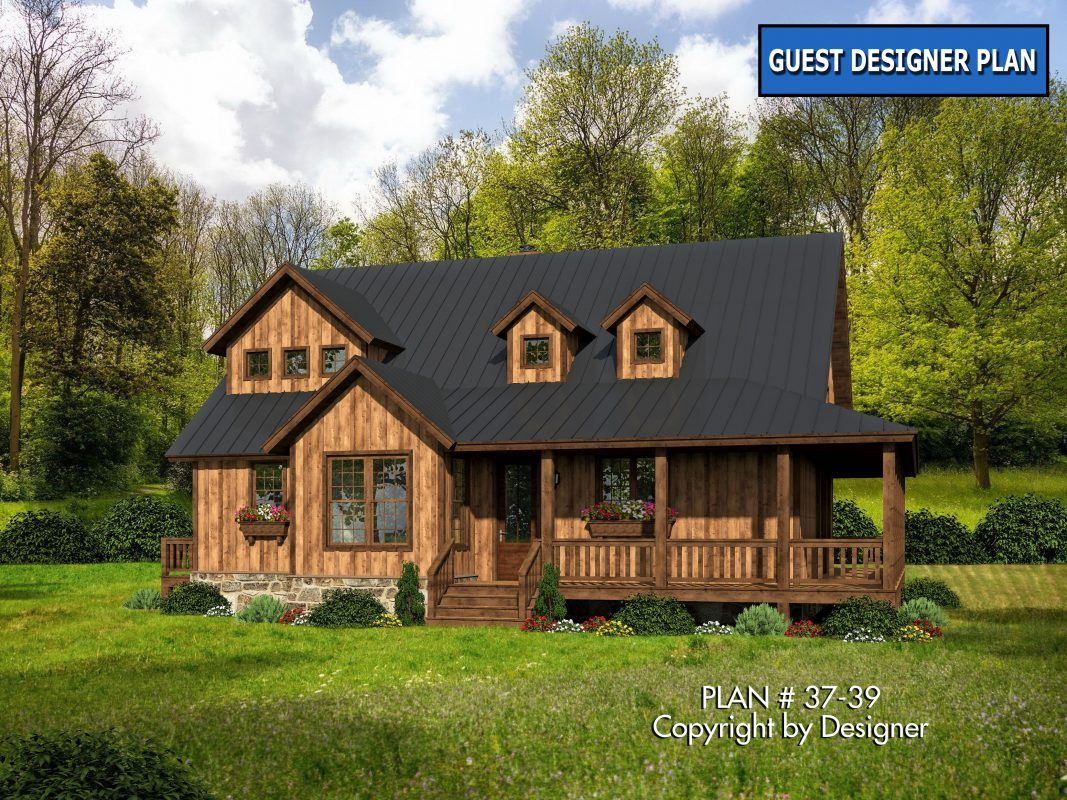 House Plan 37 39 Garrell Associates Inc Rustic House Plans Rustic Houses Exterior Rustic House
