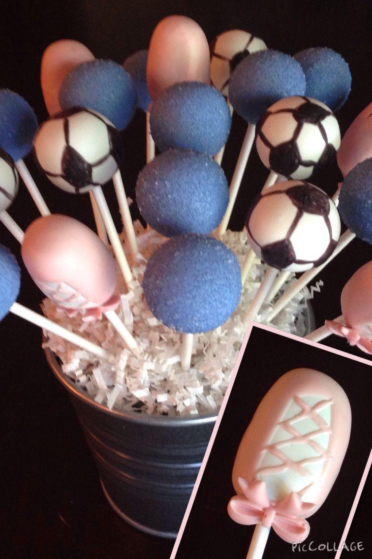 Soccer Ball and Ballet Slipper Cake Pops