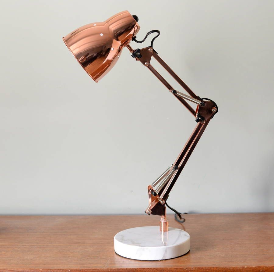 Copper angled table lamp desks construction and contemporary a fantastic copper angled table lamp this adjustable table lamp comes in a really vibrant geotapseo Choice Image