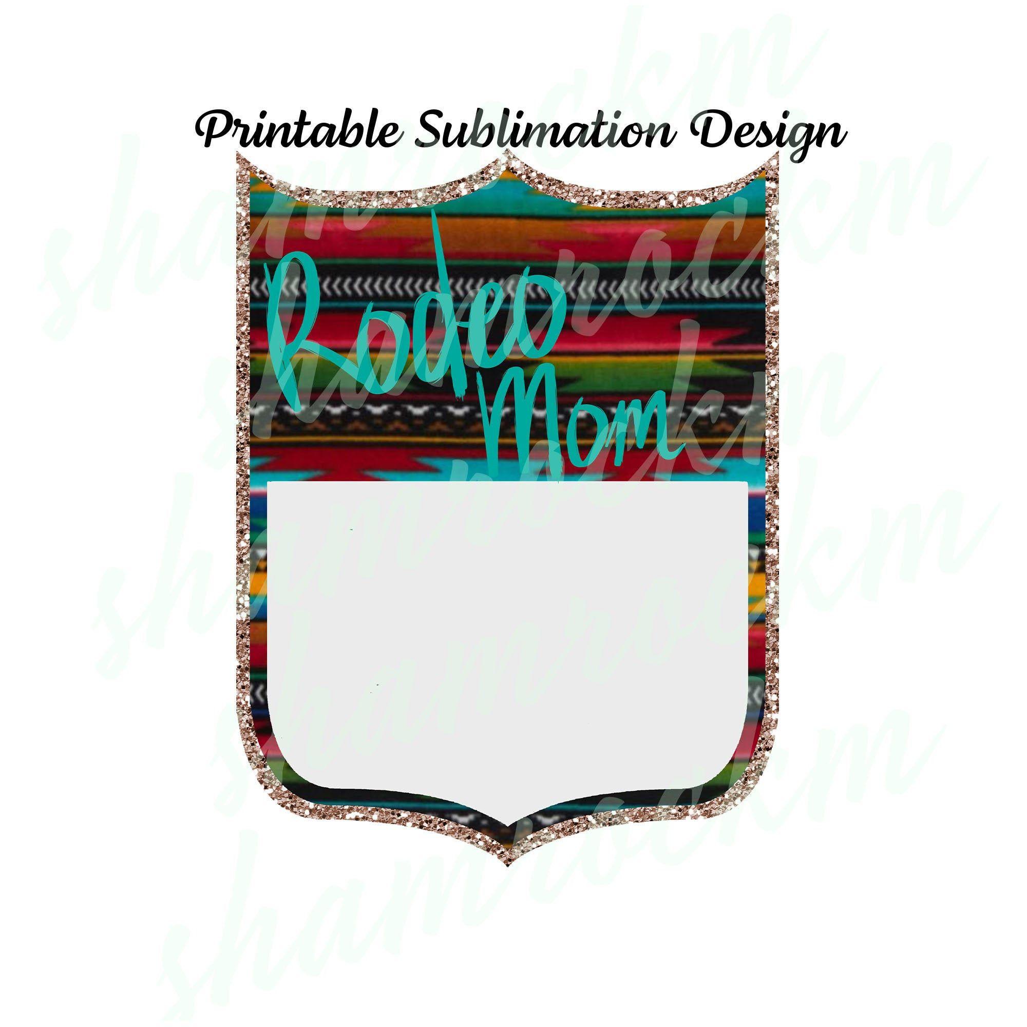 Download Printable Sublimation Design Back number Rodeo Mom 4 png ...