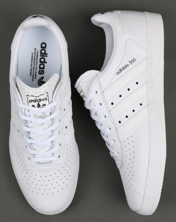 Adidas 350 Trainers White,leather,shoes