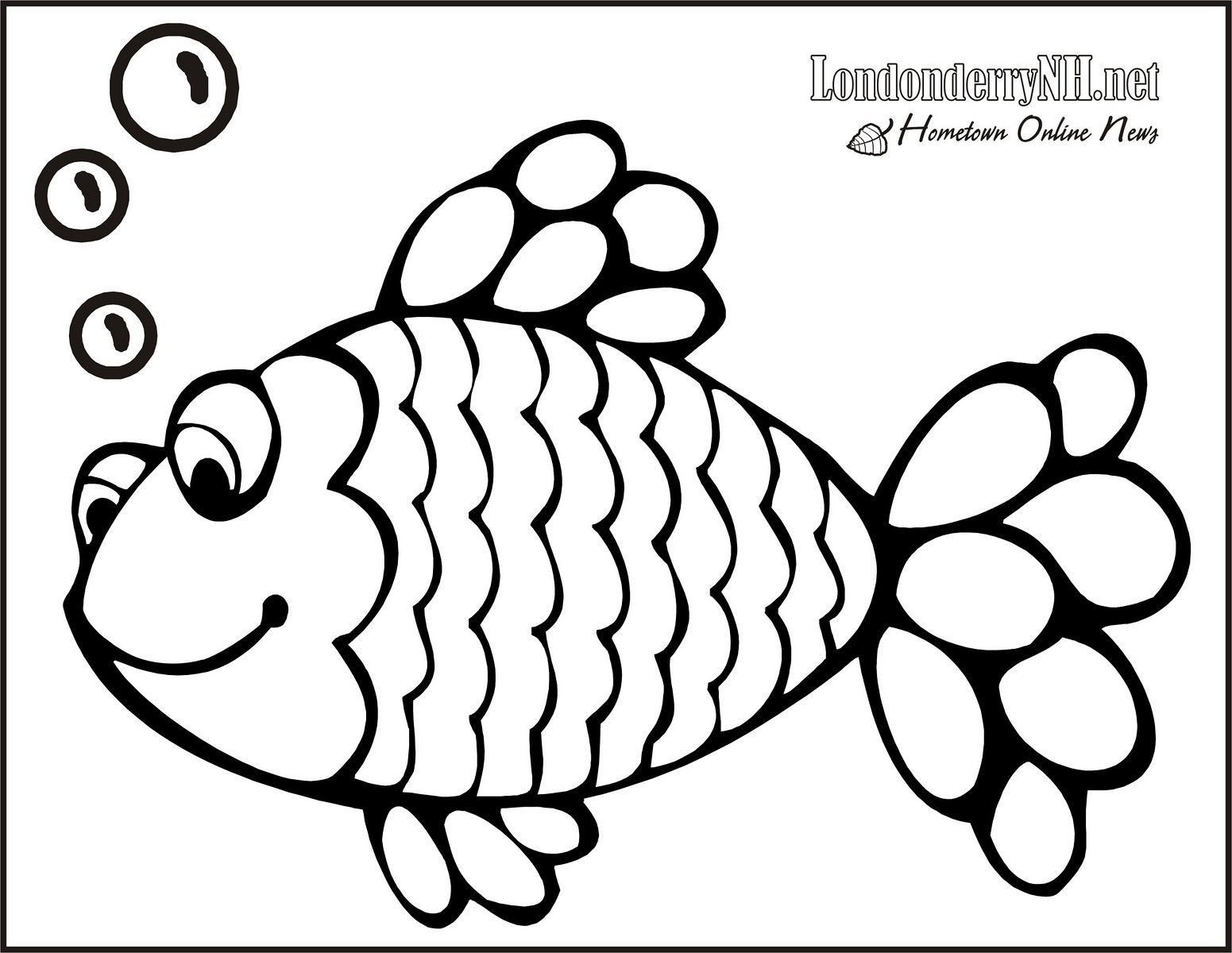 Awesome Rainbow Fish Coloring Page Free Pages Download