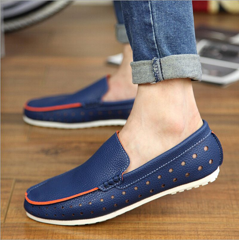 Custom Oxford Cloth Men's Slip On Loafer Walking Shoes Casual Shoes Floral