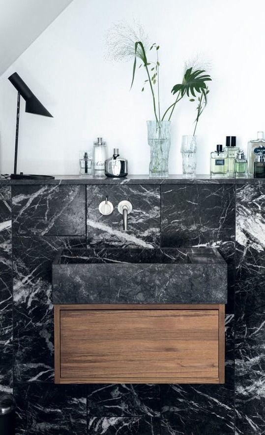Look We Love Black Marble In The Bathroom Black Marble Bathroom Kitchen Marble Black Marble