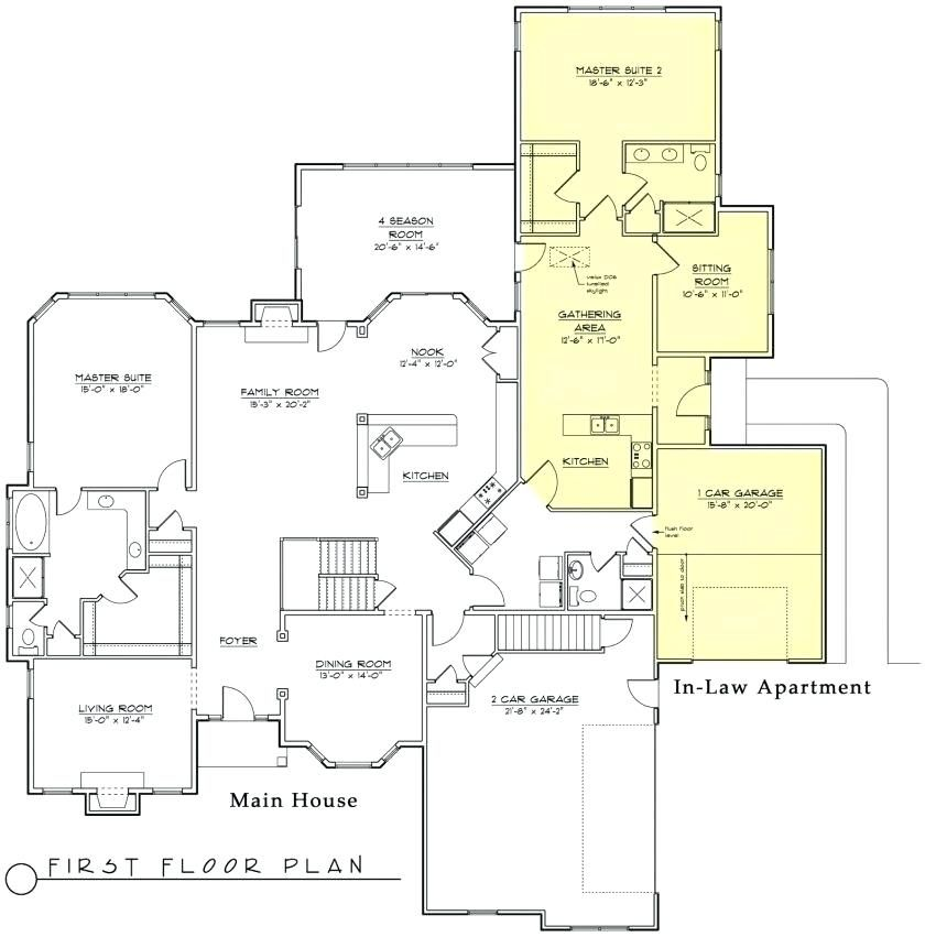 Inlaw Suite House Plans House Plans With Detached Mother In Law Suite Fresh New House Modular Home Floor Plans Multigenerational House Plans Porch House Plans