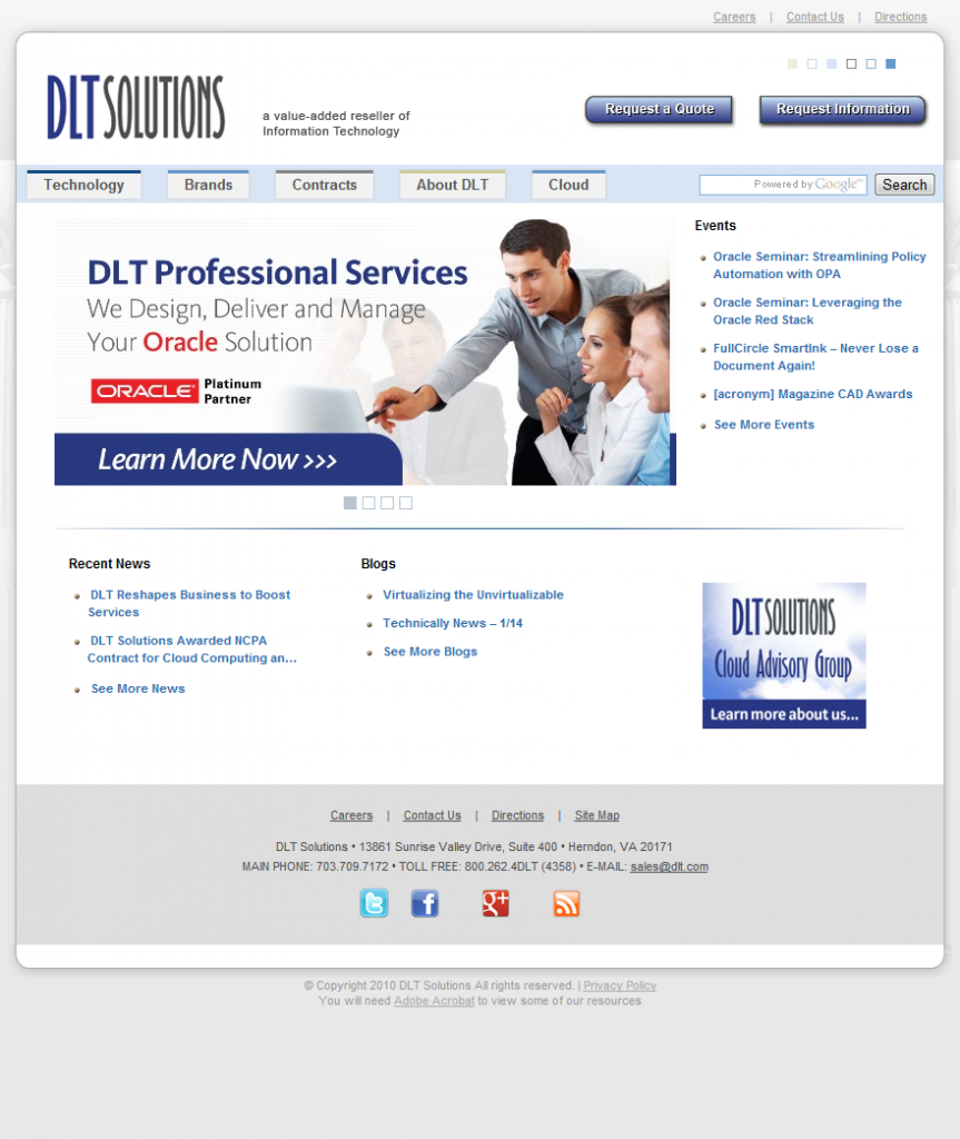 DLT Solutions - For more than a decade, DLT Solutions, Inc. has provided government agencies and business customers with state-of-the-art technology products, services and solutions. As a premier government solutions partner, DLT delivers unparalleled customer service with superior expertise in core product... - http://technologycompanieslist.com/listings/dlt-solutions/