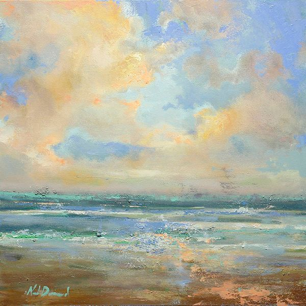 "Noah  Desmond ""Ocean Breeze"" original oil painting 30x30 $3,150"