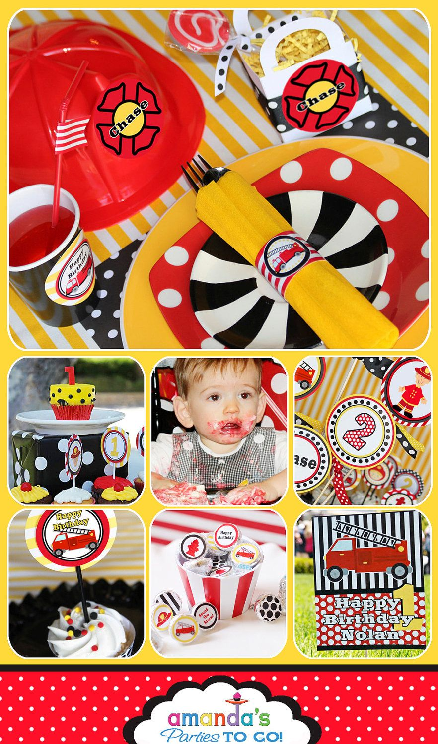 Firetruck Party Invitation - Firetruck Birthday - DIY Printable by ...