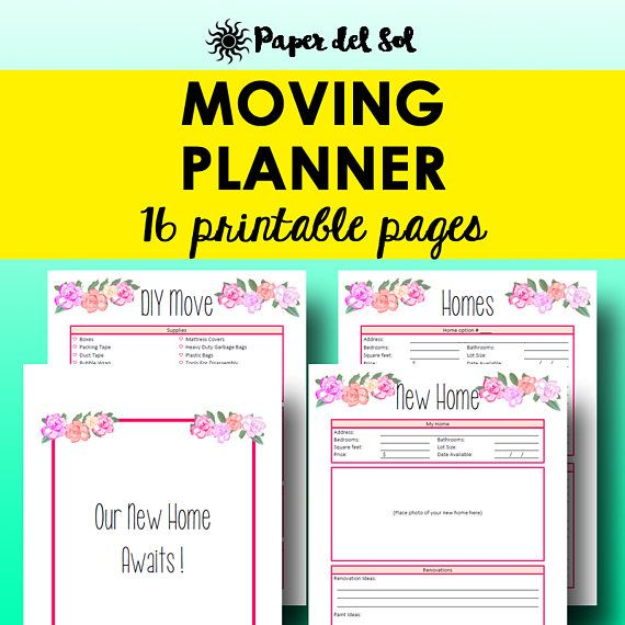 Moving Planner Printables Moving Checklist Packing Inventory Move