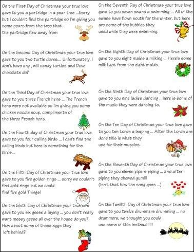 12 Days Of Christmas Gift Ideas Christmas Poems Christmas Neighbor 12 Days Of Christmas