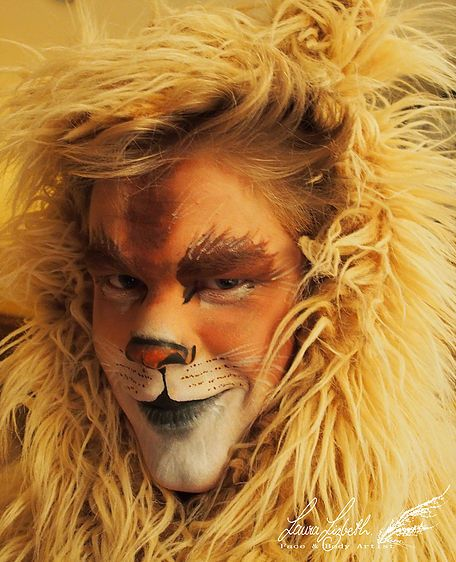 face paint lion make up kost m pinterest fasching l win und l we schminken. Black Bedroom Furniture Sets. Home Design Ideas