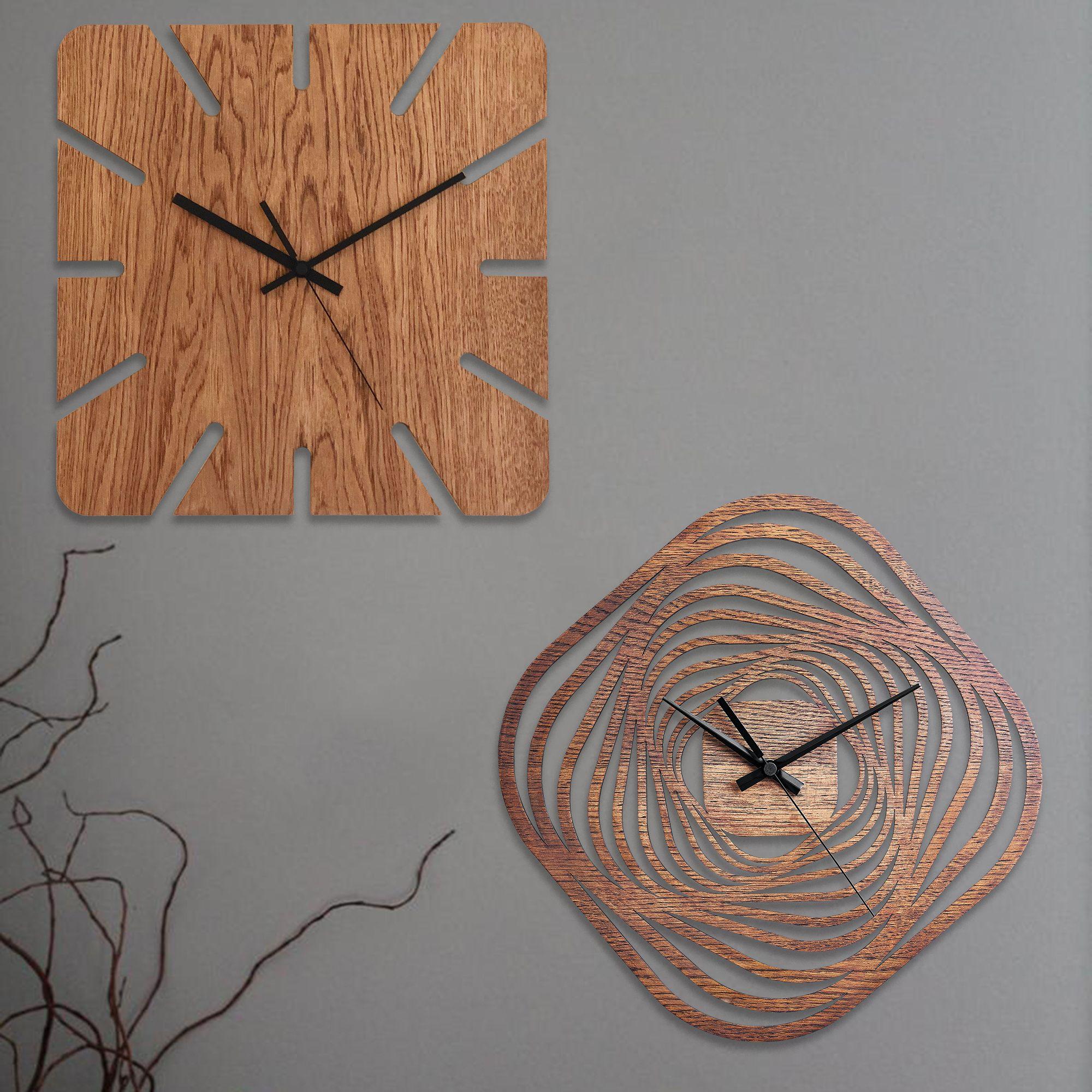Wooden Wall Clocks Moku Design Wall Clock Wooden Wall Clock Modern Wooden Clock