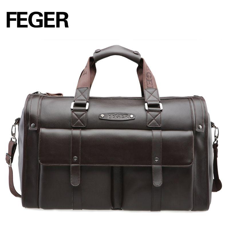 58036549d2 FEGER Best Selling Retro Split Leather Travel Bag Weekend bag for Men  Duffel Bag for Daily