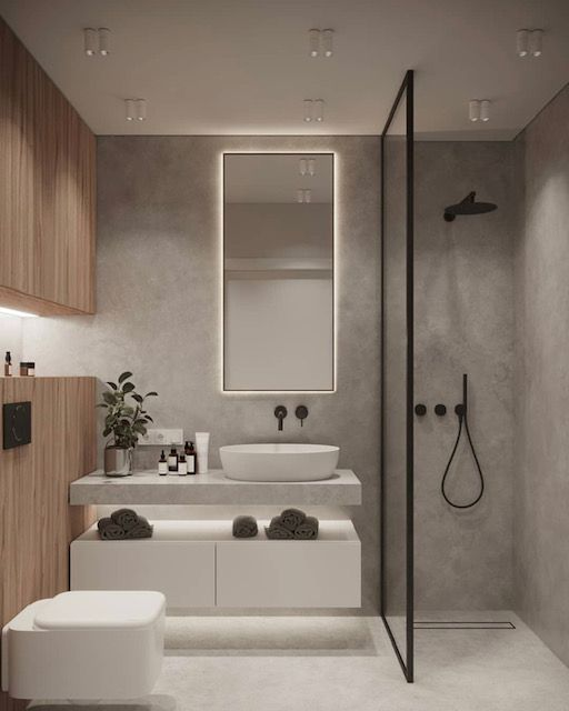 Small Bathroom Got A Small Space To Work With Here Are Our Top Tips For Maximising Your Bathroom Space Ide Kamar Mandi Kamar Mandi Mewah Dekor Kamar Mandi Small bathroom design images modern