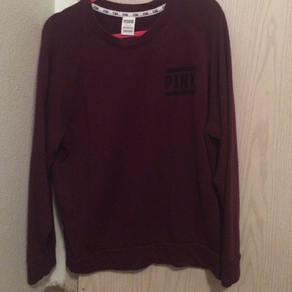 Maroon Victoria Secret Pink brand sweater | Pink brand and ...