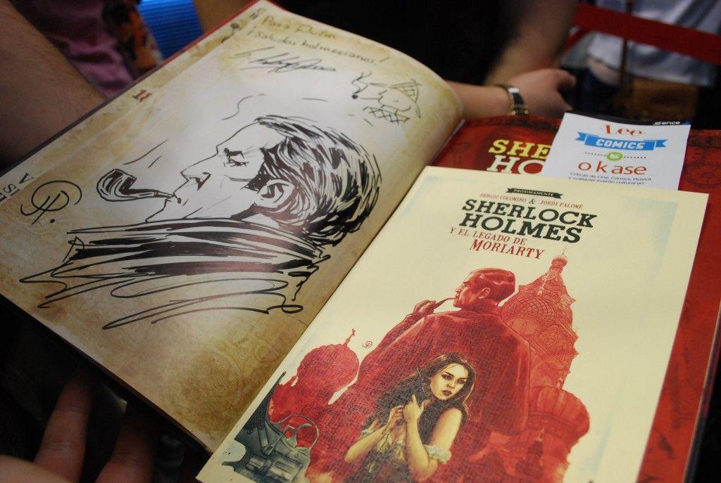 Tuvimos la oportunidad de conocer y hablar un poco con  Sergio Colomino y Jordi Palomé sobre Sherlock Holmes. Mirad que dibujo nos dedicaron. ¡Aquí tenéis nuestra experiencia! ; )