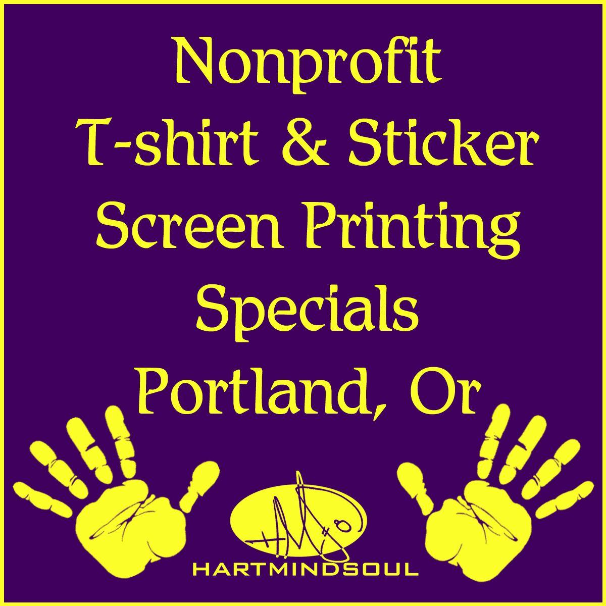 Nonprofit t shirt printing specials discounts portland oregon