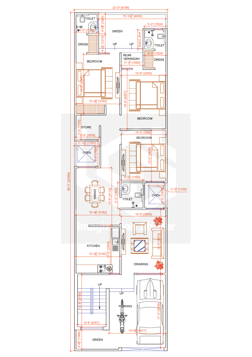 22x80 House Map In 2020 House Layout Plans My House Plans