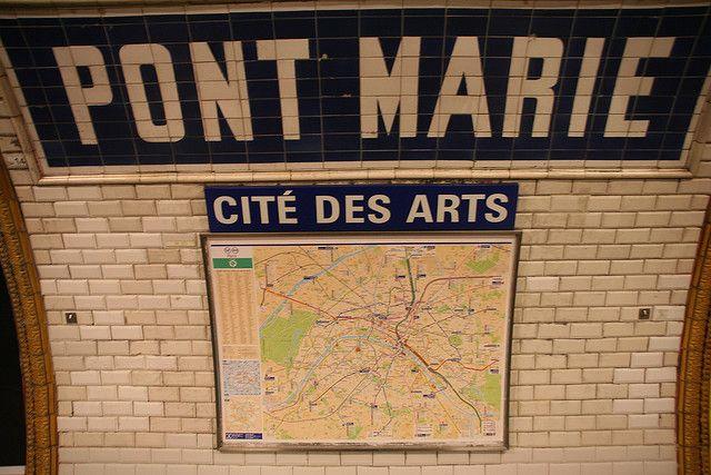 Pont Marie Metro stop (1993, 1997, 1999, 2001, 2007)