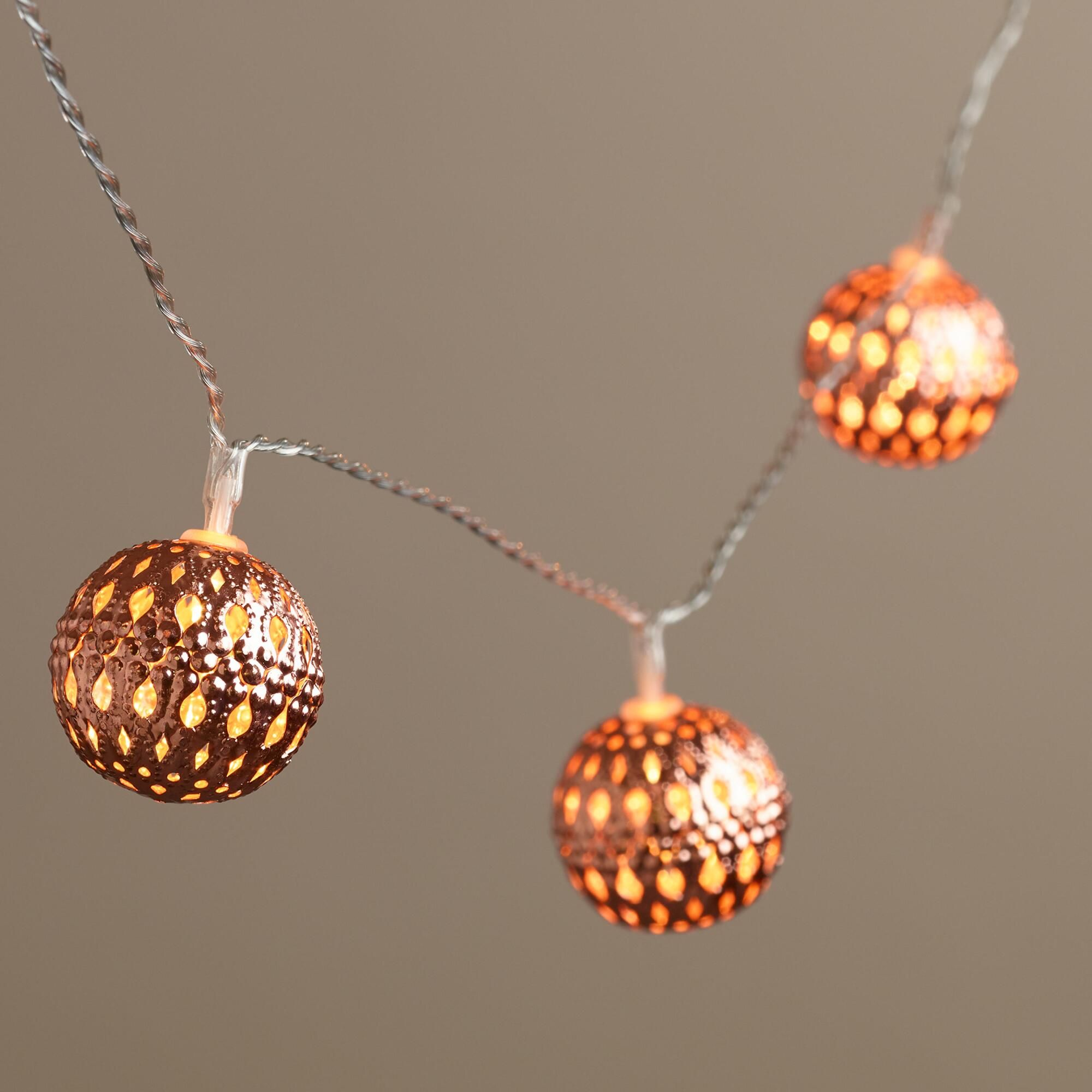 Copper orb led 10 bulb battery operated string lights battery copper orb led 10 bulb battery operated string lights mozeypictures Gallery