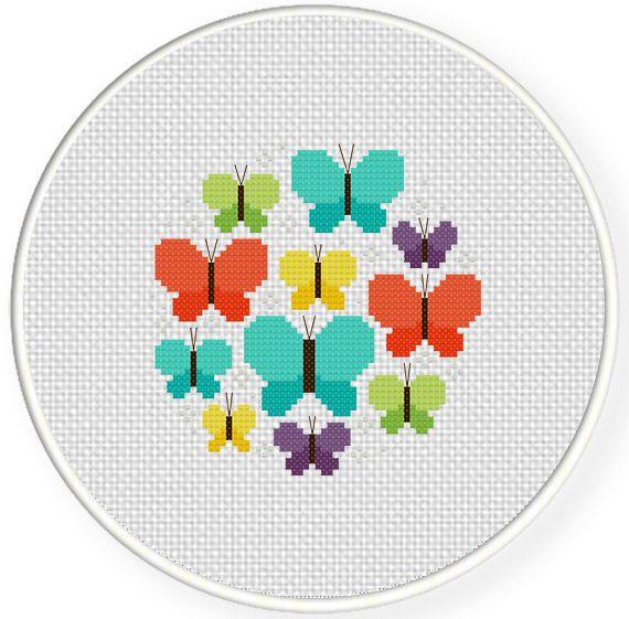 Pretty Butterflies Cross Stitch Pattern Kanavice Tasarimlari