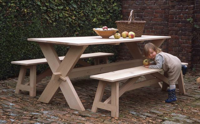 Miraculous Dovetail Bench With Cross Legged Table Arne Maynard Garden Uwap Interior Chair Design Uwaporg