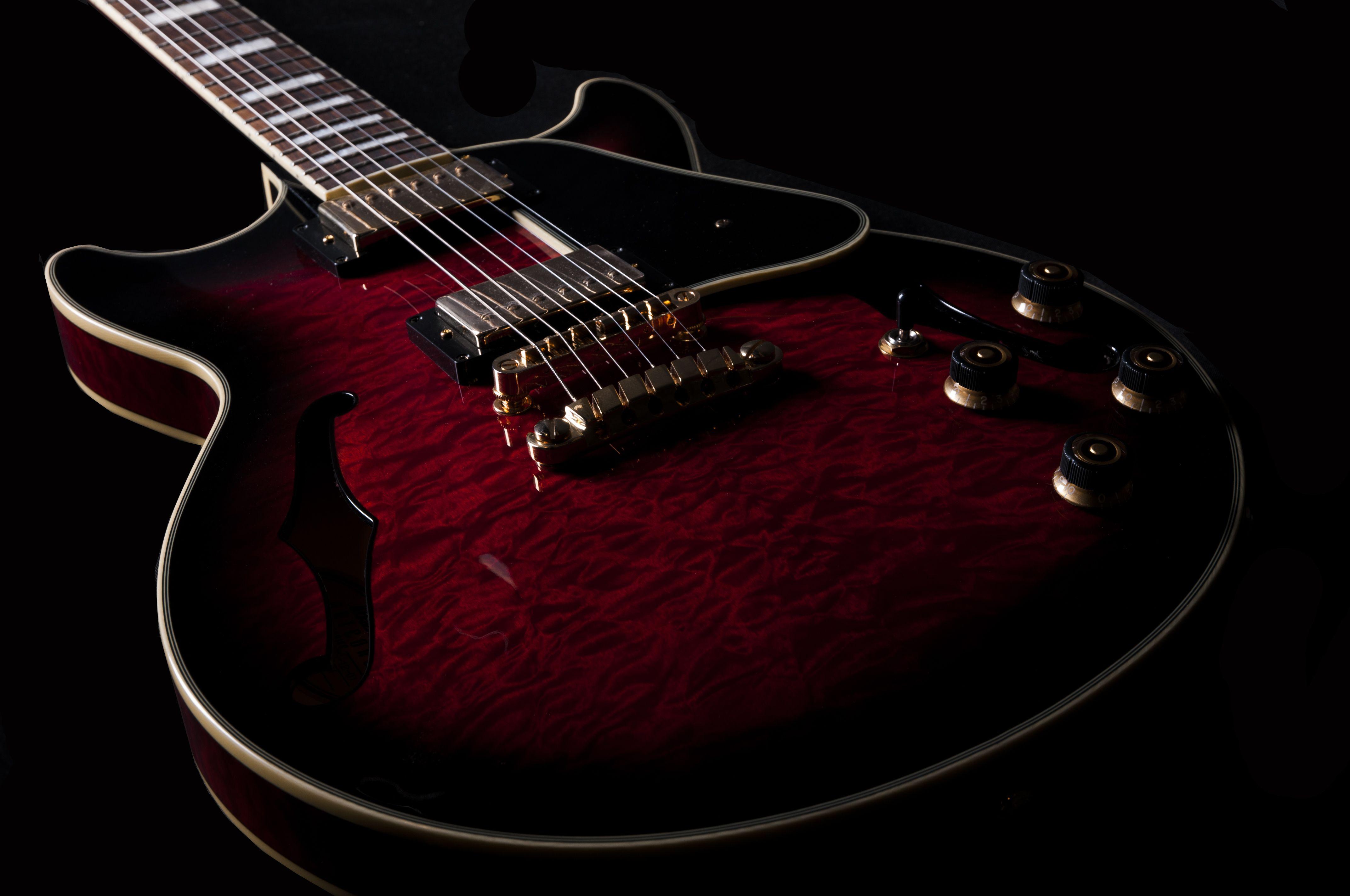 Guitar Red Lighting