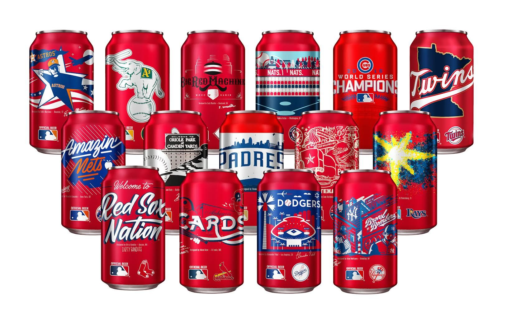 Bud Mlb Cans Jpg 1641 1038 Budweiser Beer Can Collection Baseball Season