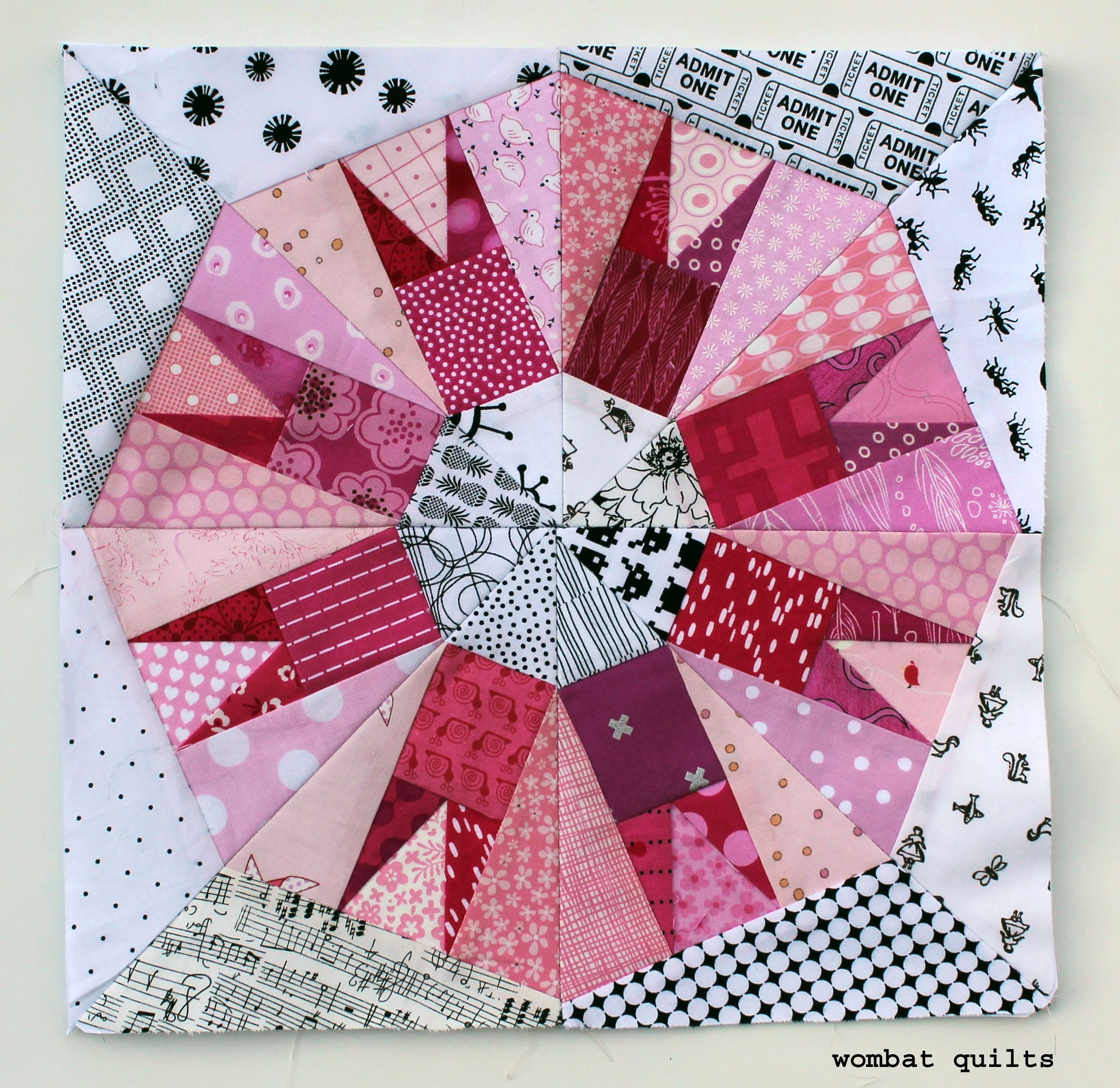 Cactus Snowball Pink Ball 3 Paper Piecing Pattern By