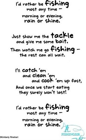 I 39 d rather be fishing fishing poem fishing quote for The fish poem