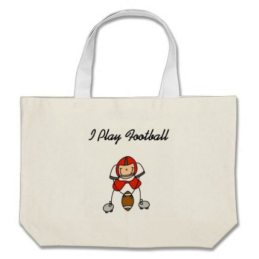 Stick Figure Football - Red Tshirts and Gifts Canvas Bag