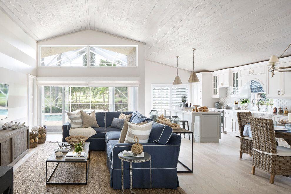 Simple Blue White Seaside Cottage Decoration Hamptons Style Living Room Coastal Cottage Style Cottage Interiors