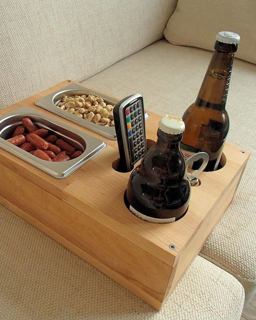 Sofa Butler Cup Holder By Golfballliebhaber Woodworking Projects Unique Easy Woodworking Projects Beginner Woodworking Projects
