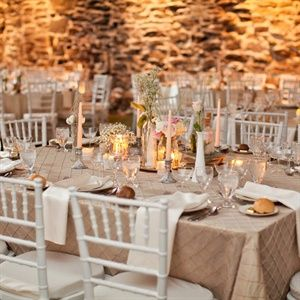 Taupe Linens Ivory Napkins And Soft Romantic