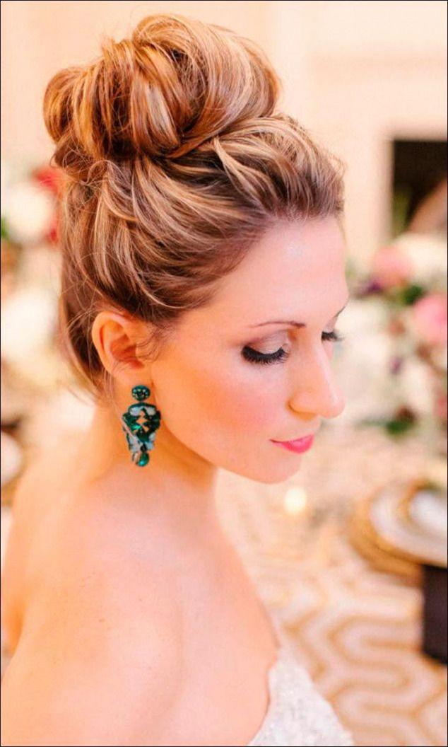 image result for high bun wedding  simple wedding
