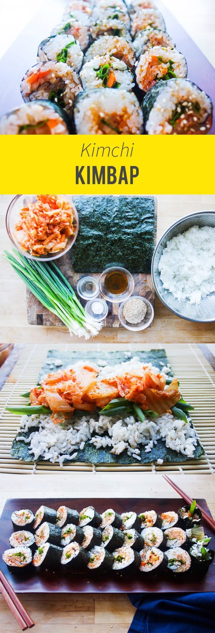 A home cooking Korean staple. The easiest kimchi kimbap. A home cooking Korean staple. The easiest kimchi kimbap. -