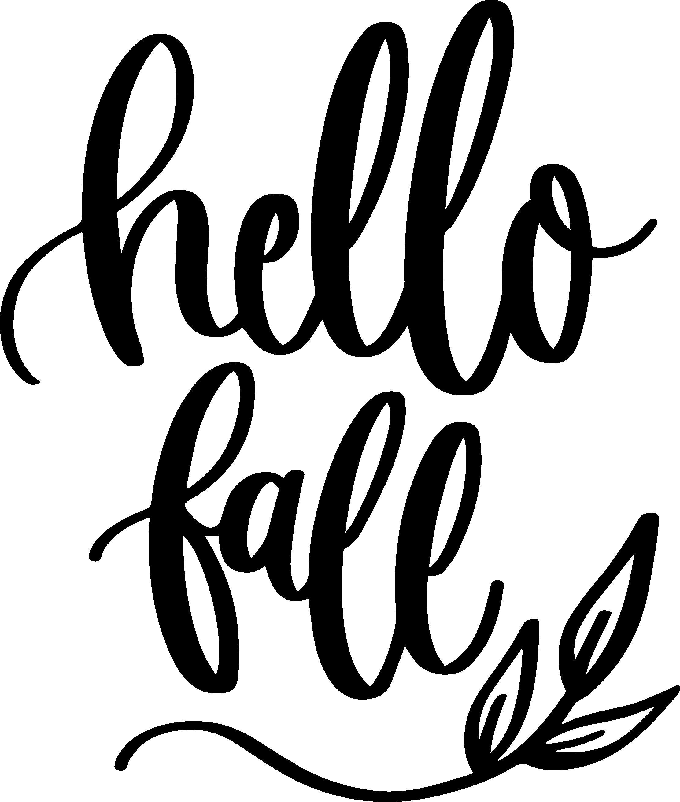 Hello Fall Ironon decal (HTV) (With images) Fall