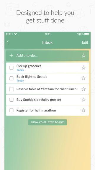 Wunderlist   Helpt je bij het plannen van je huiswerk en toetsen.  Maak notities of opmerkingen bij je To do-lijstje en zorg dat je een herinnering via de mail krijgt. Lijstjes kun je delen met anderen. Als je taak is volbracht kun je er letterlijk een dikke streep doorheen zetten.