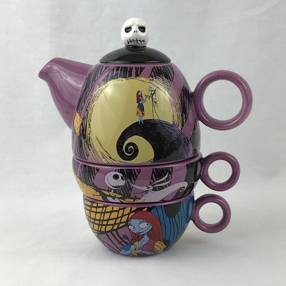 Nightmare Before Christmas Tea For Two Disney Ceramic Vandor | Tea ...