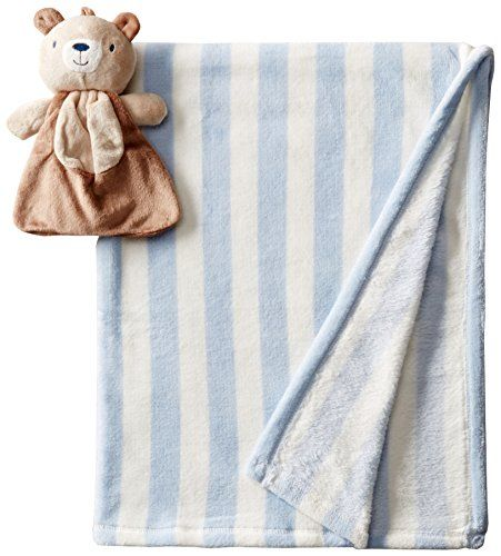 Lovespun Baby-Boys Newborn 2 Piece Blanket with Bear Plush Toy - my baby LOVES the Lovespun fleece blankets, he won't tolerate anything else