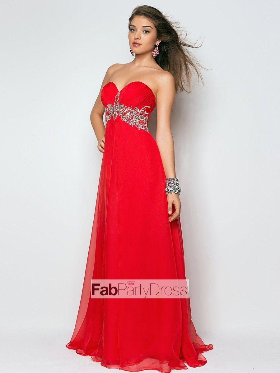 Aline sweetheart beading sleeveless floorlength chiffon prom