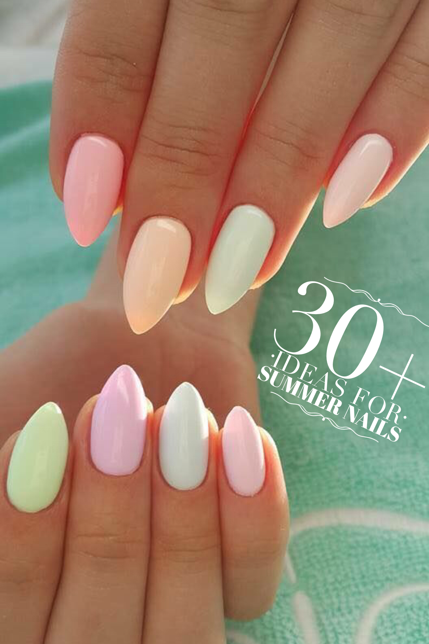 34 Nails Ideas You Must Try This Summer Allthestufficareabout Com Nails Rainbow Nails Spring Nail Art