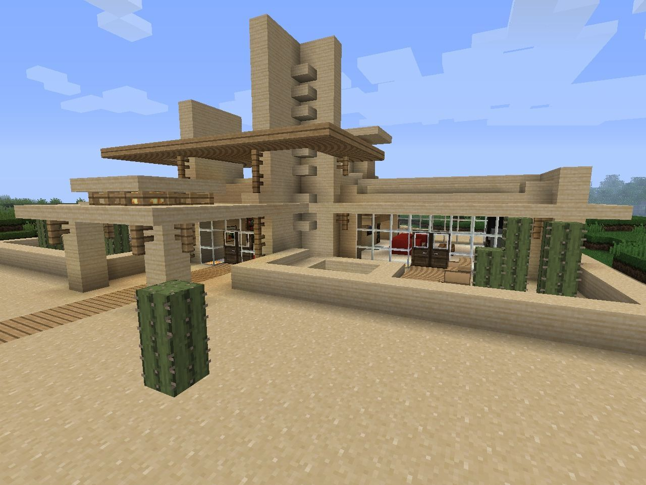 modern desert home minecraft project | minecraft creations