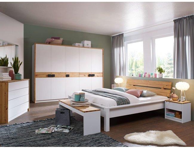 Schlafzimmer Kiefer massiv Lienz weiss laugenfarbig 4