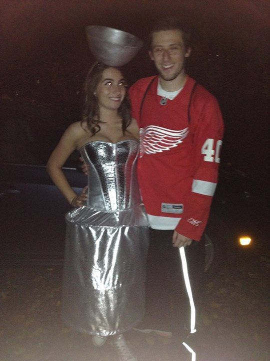 Stanley Cup And Hockey Player Halloween Costume This Is The Cutest Thing I Have Ever Seen Hockey Halloween Halloween Costumes Halloweenie