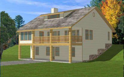 Narrow Lot House Plan 341
