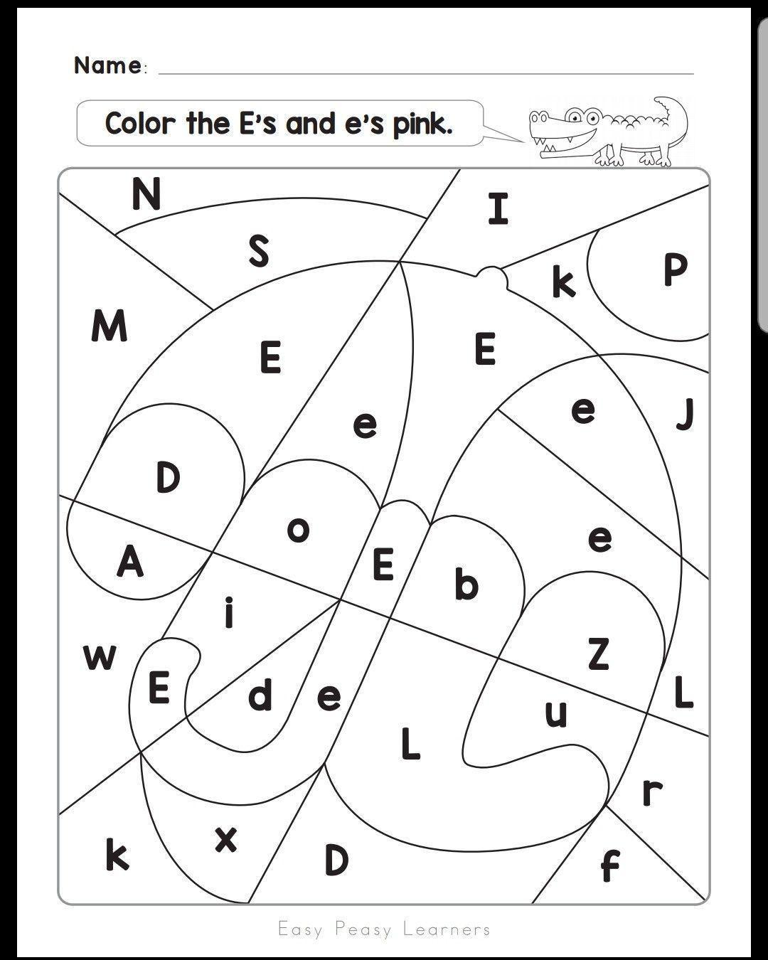 Alphabet Worksheets For Lkg